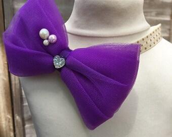Girls headbands,bow headbands,birthday headbands,tulle hair accessories,elastic headbands,U.K.