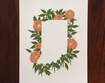 Indiana State Print - Peonies