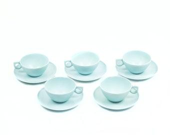 Set of 5 Melamine Cups. Aztec Melamine Dinnerware.