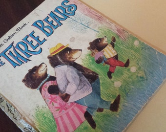 Collectable Retro A Little Golden Book 'The Three Bears' 1979