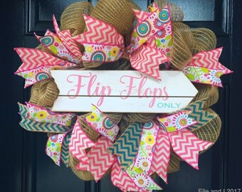 Flip Flops Summer Wreath