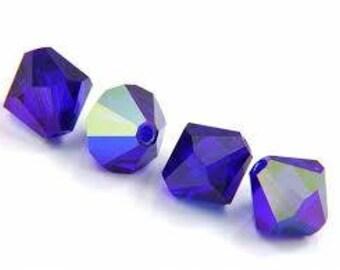 Swarovski Cobalt AB Bicones, Close out Sale!!  Factory Pack, 6MM 5328 Swarovski Crystal Bicones,, 360 PCS