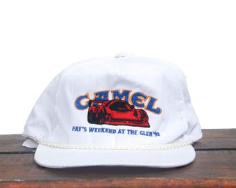 Vintage Camel Racing Weekend At The Glen '92 Cigarettes Tobacco Trucker Hat Snapback Baseball Cap