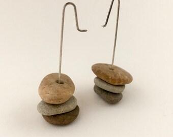 "Stone Earrings ""Beach Boho"""