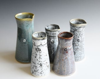 Vases handthrown in semi-porcelain