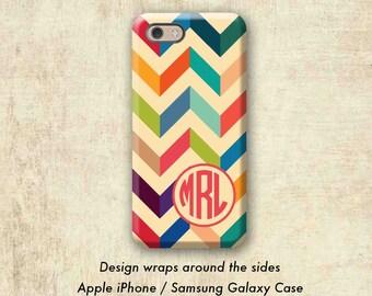 Geometric Chevron iPhone 7 Case , iPhone 6 Plus Case , iPhone Case , iPhone 6S Case , iPhone 7 Plus Case , Monogram Case