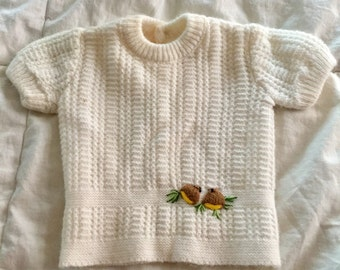 1980's Renzo (R) Knit Sweater (Baby Girls) Italy