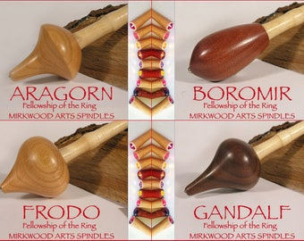 Circle  of 5 Fellows (Fellowship of the Ring Supported Spindles for Collectors) - Made to Order
