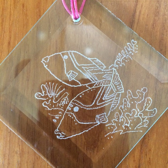 Stained Glass Bevels Inspirational Hangings and Ornaments Made in Hawaii Deesigns by Harris Free Gift Wrap