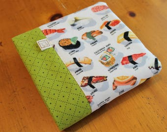 Personalized Baby Blanket, Japanese Baby Gift, Sushi Baby Swaddle, Cotton Baby Blanket, Green Cotton Blanket, Sushi Baby Gift