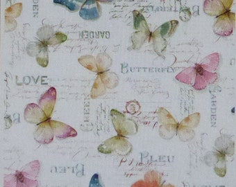 Rainbow Seeds~Butterflies~Cotton Fabric by Wilmington Prints~Home Decor Quilt~Fast Shipping,N375