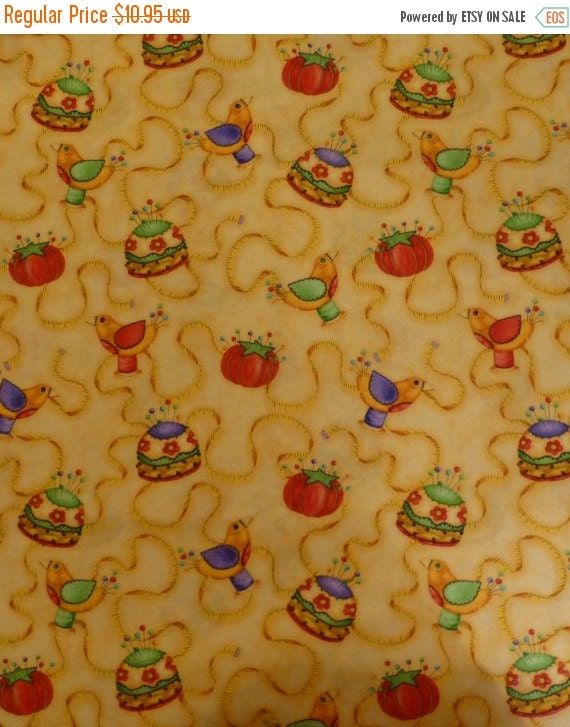 Clearance sale sewing symbols fabric by the by for Sewing fabric for sale