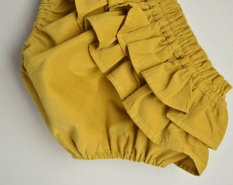 Baby Bloomers, Mustard Colour, Corduroy