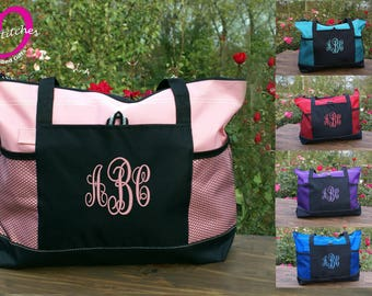 Personalized monogrammed tote bag ,birthday gift, Christmas,friend,graduation,teacher,nurse