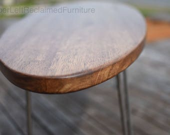 Reclaimed Oval Coffee Table, Reclaimed Surfboard Table, Midcentury Oval Coffee Table
