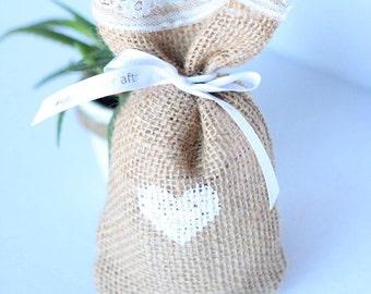 1 Burlap handmade Tea Bag//Gift//Wedding//Favor//Shower Gift
