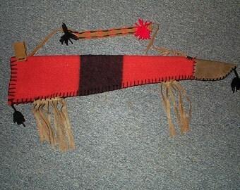 "Hudson Bay wool, arrow quiver, 26"" long"