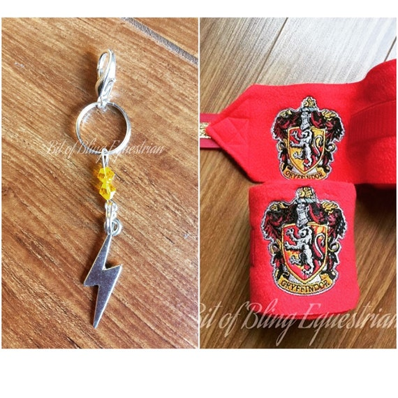 Wizard House Gift Set - polo wraps and bridle charm