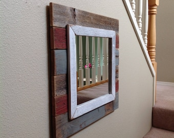 Rustic Mirror, Mirror, Rustic Furniture, Wall Mirror, Rustic Wood Wall Decor, Rustic Home Decor, Reclaimed Wood Wall Art, Rustic Wood Sign