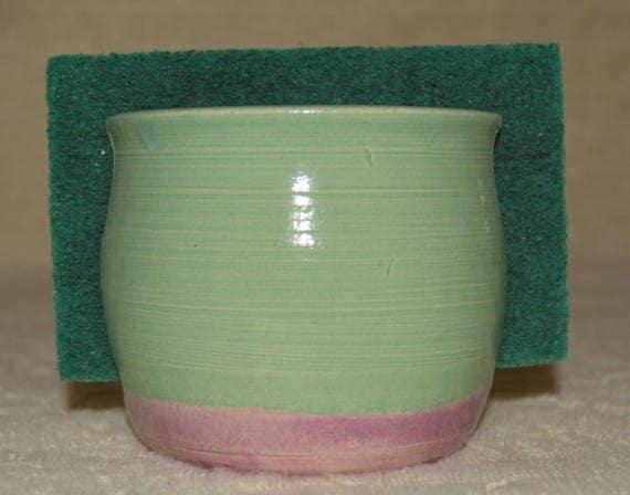 Sponge Holder, Kitchen Storage, Sponge, Stoneware, Ceramic, Purple, Pastel Green,