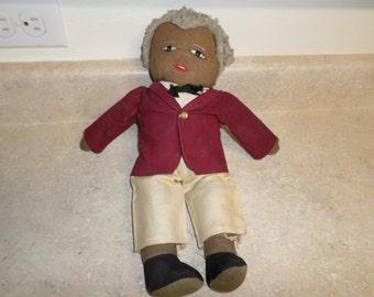 Vintage Black Americana Buttler Doll