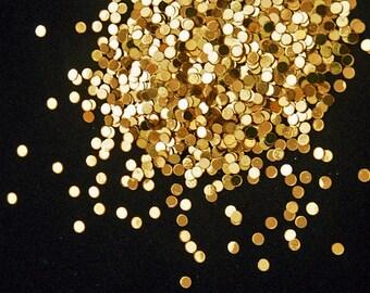solvent-resistant glitter shapes-medium gold (metallic) dots