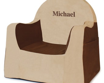 P'kolino Personalized New Little Reader Chair- Brown (add name to be personalized in Notes)