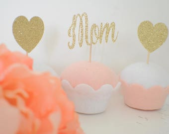 Mother's Day Cupcake Toppers, mom cupcake topper, Mothersday cupcake topper, Mothersday