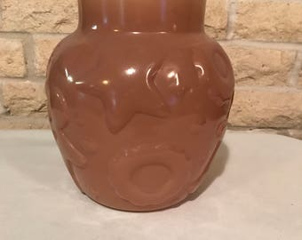 Vintage Hazel Atlas Brown Glass Cookie Jar