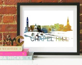 Chapel Hill, Chapel Hill North Carolina, North Carolina wall art, UNC Chapel Hill, tar heels, unc, chapel hill map, chapel hill skyline
