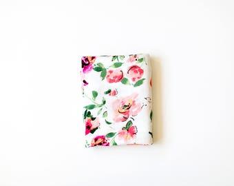 Big White Floral Swaddle Blanket with bundle option