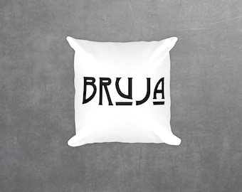 BRUJA Witch Decorative Pillow Case, Square pillow case with\ without stuffing 18""