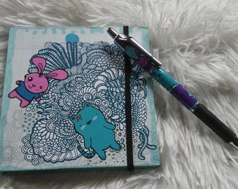 notebook blue cat