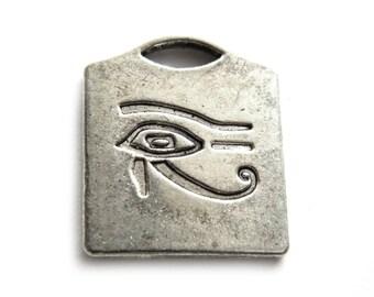 6 Silver Eye of Horus Charms
