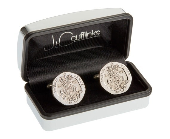 Tin Wedding Anniversary Gift: 2007 Coin Cufflinks Mens 10th Tin Wedding Anniversary Gift In