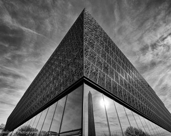 """African American Museum, D.C: 7""""x10"""" archival print signed and matted to 11""""x14"""" (larger sizes available)"""