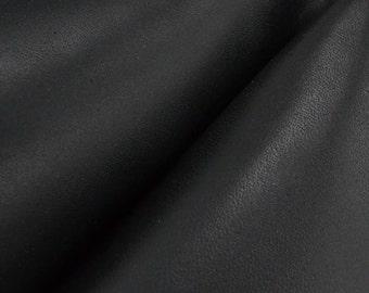 """Black Leather Oil Tanned Cow Hide 8"""" x 10"""" Project Piece 5-6 ounces DE-51914 (Sec.7,Shelf 5,B)"""