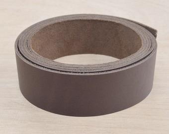 "Dark Brown OIL-Tanned LEATHER Strap Strip 1 1/4"" x  54""+ Longer 4-6 oz Hide MI-52038 (85:G5A)"
