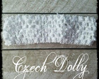 "Crochet Headband 1.5"" White"