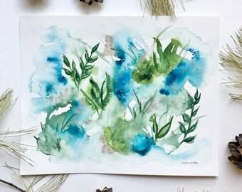 Lost in Nature - Original Watercolor Painting