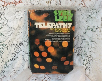 1971 First EditionTelepathy: The Respectable Phenomenon Sybil Leek/Psychic Book/Witchcraft Book/Witch Pagan/Out of Print Book/Rare Book