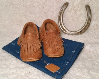 Cooper - Leather baby moccasins