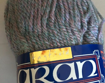 Hayfield Aran with Wool - machine washable worsted weight - Acrylic/Wool blend tweed yarn - color 13027 Gray Multi