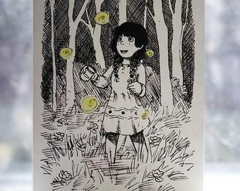 Fireflies 4x6 card