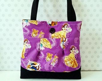 SALE Beauty and the Beast Purple Medium Purse / Belle / Princess