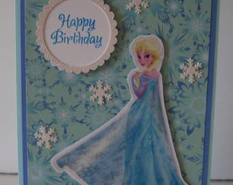 Elsa Birthday Card