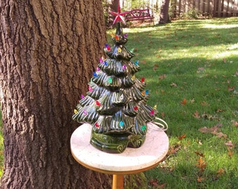 "Vintage 17"" Ceramic Christmas Tree"