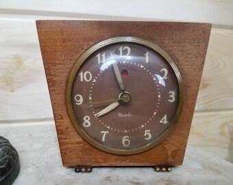 Wood Art Deco Westclox Alarm Clock