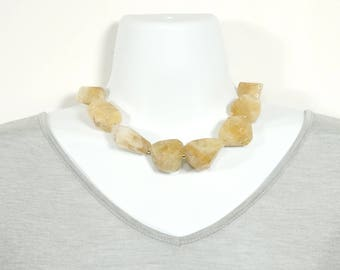 Natural Citrine Cluster Necklace
