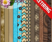 ON SALE Digital Scrapbook: Chocolate Therapy Paper Pack